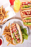 Fast food,hot dog Stock Images