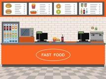 Fast Food i Ekspresowy Cukierniany wnętrze Obraz Royalty Free