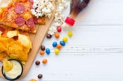 fast food i niezdrowy łasowania pojęcie fotografia stock