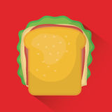 Fast food icon design Stock Photography