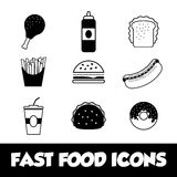 Fast food icon design Stock Photo