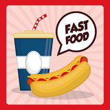 Fast food icon design Stock Images