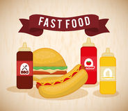 Fast food icon design Royalty Free Stock Images