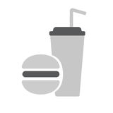 Fast food icon. Fast food flat icon vector illustration EPS10 Stock Images