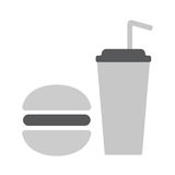 Fast food icon. Fast food flat icon vector illustration EPS10 Royalty Free Stock Photos