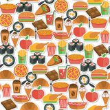 Fast food icon seamless Stock Photography