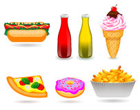 Fast Food Icon Set. On the white background Royalty Free Illustration