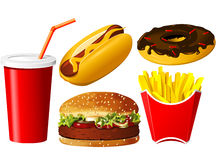 Fast food icon set Stock Image