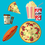 Fast food icon set Stock Photo
