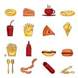Fast food icon sketch Stock Photo