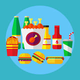 Fast food icon Royalty Free Stock Photography