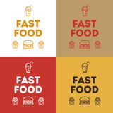 Fast food icon vector Stock Photos