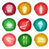 Fast food icon watercolor Royalty Free Stock Image