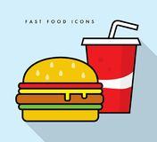 Fast food icons – stock illustration. N file Royalty Free Stock Image
