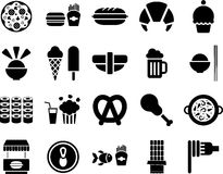 Fast food icons Stock Photography