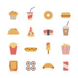 Fast food icons Royalty Free Stock Photo