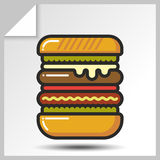 Fast food icons_5 Fotos de Stock Royalty Free