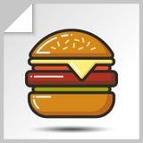 Fast food icons_3 Imagem de Stock Royalty Free