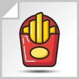 Fast food icons_2 Imagem de Stock Royalty Free