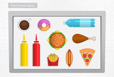 Fast food icons Royalty Free Stock Image