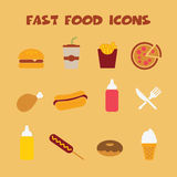 Fast food icons2 Royalty Free Stock Photo