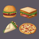Fast food icons. Icon vector illustration graphic design Royalty Free Stock Photos