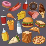 Fast food icons. Icon vector illustration graphic design Royalty Free Stock Image