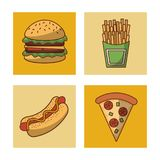 Fast food icons. Icon vector illustration graphic design Stock Photography
