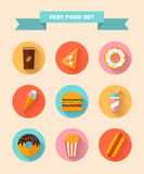 Fast food icons. Stock Photography