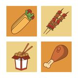 Fast food icons. Icon vector illustration graphic design Royalty Free Stock Images