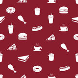 Fast food icons pattern eps10. Red fast food icons pattern eps10 Royalty Free Illustration