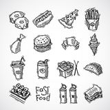 Fast Food Icons Set Stock Image