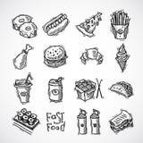 Fast Food Icons Set stock illustration