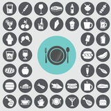Fast food icons set. Stock Photography