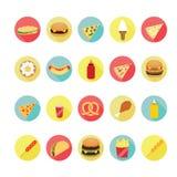 Fast food icons set. Illustration eps10 Stock Image
