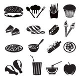 Fast Food Icons Stock Images