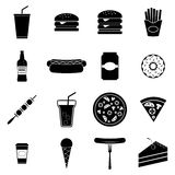 Fast food icons set Stock Photo