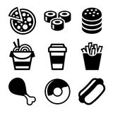 Fast Food Icons Set. Vector Royalty Free Stock Photography