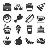 Fast Food Icons Set Royalty Free Stock Photography