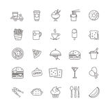 Fast food icons - stock set. For your design Stock Photography