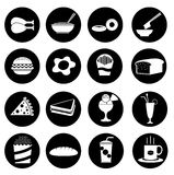 16  fast food icons Stock Photography