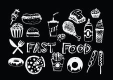 Fast food icons vector symbols. An images of fast food icons vector symbols Royalty Free Stock Photo