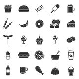 Fast food icons on white background. Stock vector Royalty Free Stock Photos