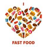 Fast Food ikona Zdjęcie Stock