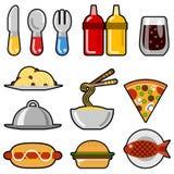 fast food ikony Zdjęcia Royalty Free
