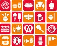 Fast food ikony Fotografia Royalty Free