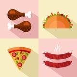 Fast Food ikony Fotografia Stock