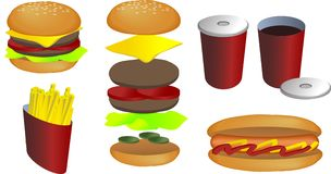 Fast Food Illustration Royalty Free Stock Photography
