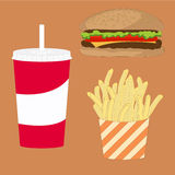 Fast Food Illustration Stock Photography