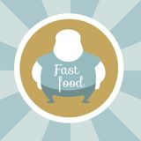 Fast Food Illustration. Royalty Free Stock Image